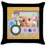 so cute - Throw Pillow Case (Black)