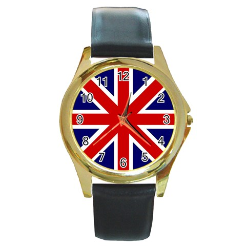 Gb By Divad Brown   Round Gold Metal Watch   Pfa80qgpg59v   Www Artscow Com Front