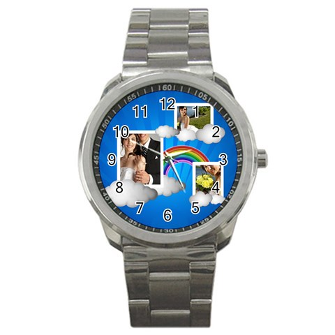 Happy Day By Jacob   Sport Metal Watch   5gbh7bap8liv   Www Artscow Com Front