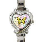 Butterfly Heart Watch - Heart Italian Charm Watch