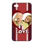 love - Apple iPhone 4/4s Seamless Case (Black)