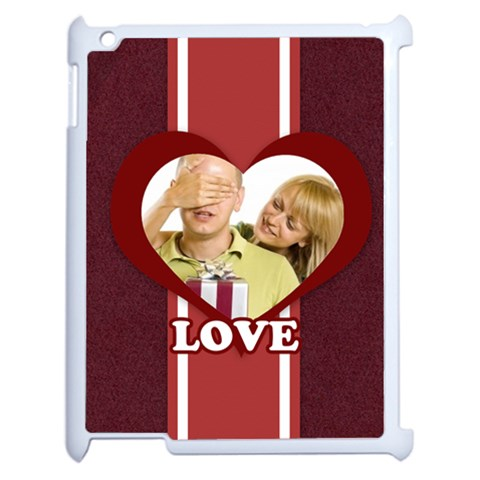 Love By May   Apple Ipad 2 Case (white)   J0ndlqv46gxx   Www Artscow Com Front