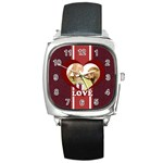 love - Square Metal Watch