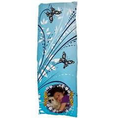 Blue Swirl And Butterfly Body Pillow Case By Kim Blair   Body Pillow Case Dakimakura (two Sides)   Eedb5rp437nz   Www Artscow Com Back