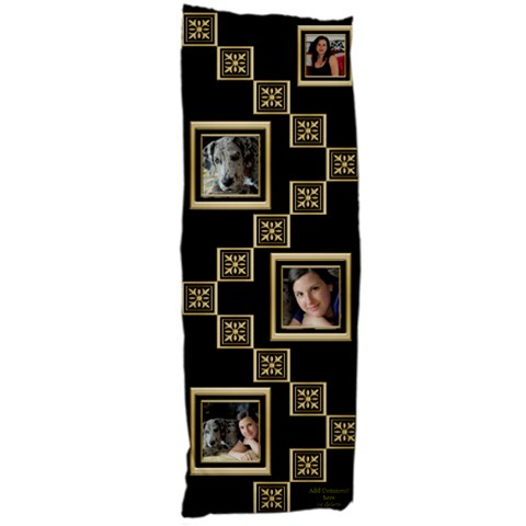 Black And Gold Body Pillow By Deborah   Body Pillow Case (dakimakura)   M3gy684bwyc9   Www Artscow Com Body Pillow Case