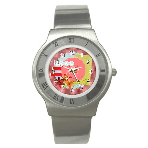 Love By Joely   Stainless Steel Watch   Eri1u8ooaon0   Www Artscow Com Front