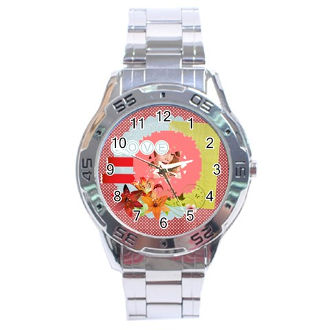 Love By Joely   Stainless Steel Analogue Watch   Pey0qicnaaug   Www Artscow Com Front