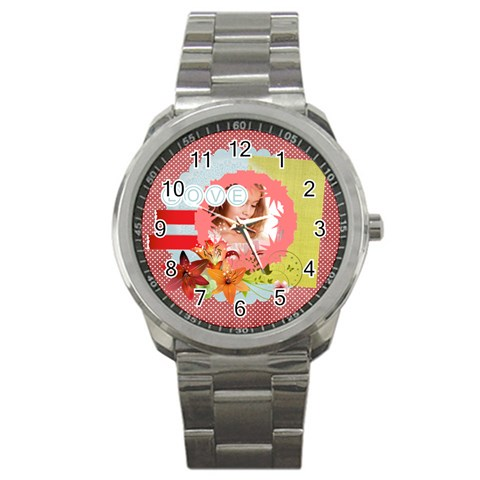 Love By Joely   Sport Metal Watch   5jy36zz4v7wd   Www Artscow Com Front