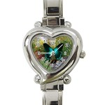 flower garden butterfly watch - Heart Italian Charm Watch
