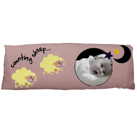 Counting Sheeps Pillow Pink (1 Side) By Carmensita   Body Pillow Case (dakimakura)   Knludup59ay1   Www Artscow Com Body Pillow Case