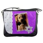 Lovely bag with flower - Messenger Bag