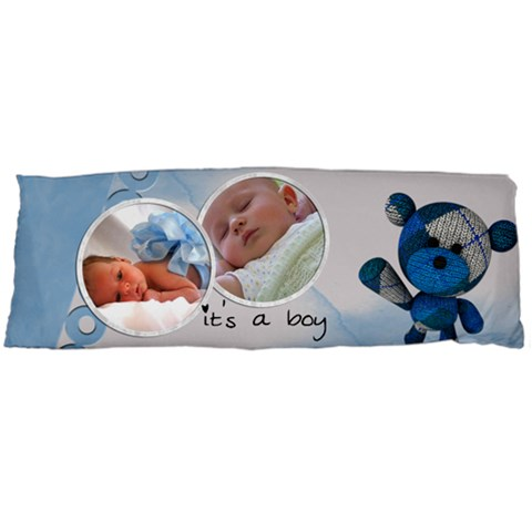 It s A Boy Pillow Blue (1 Side) By Carmensita   Body Pillow Case (dakimakura)   Tjpjccn336a4   Www Artscow Com Body Pillow Case