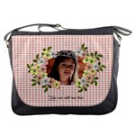 Messenger Bag -Checkered and Flowers