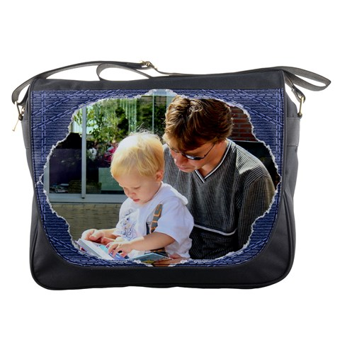 Torn Jean Messenger Bag By Deborah   Messenger Bag   266ge97ztpsq   Www Artscow Com Front