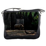 Messenger Bag - Rhino at the Zoo