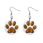 Tiger Paw 1  Button Earrings