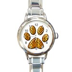 Tiger Paw Round Italian Charm Watch