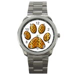 Tiger Paw Sport Metal Watch