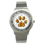 Tiger Paw Stainless Steel Watch