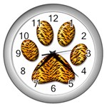 Tiger Paw Wall Clock (Silver)