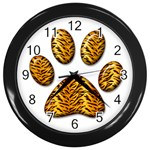 Tiger Paw Wall Clock (Black)