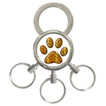 Tiger Paw 3-Ring Key Chain