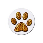 Tiger Paw Rubber Round Coaster (4 pack)