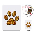 Tiger Paw Playing Cards Single Design