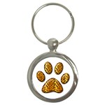 Tiger Paw Key Chain (Round)