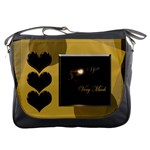 I Heart You Moon gold Messenger bag