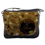 Love gold Messenger bag