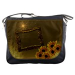 Gold sunflower Messenger bag