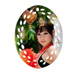 Christmas Wishes Filigree Oval Ornament - Ornament (Oval Filigree)