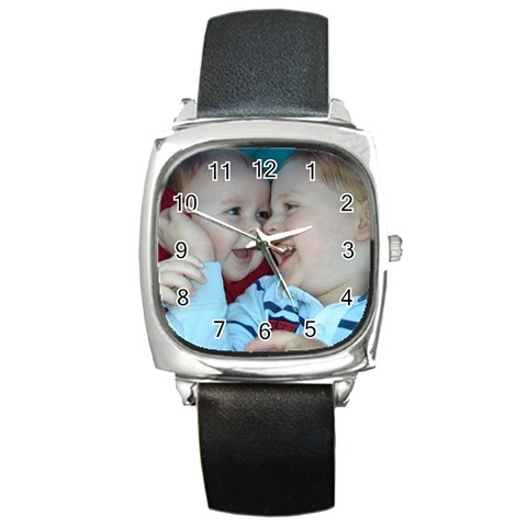 Dads Watch By Kirstin   Square Metal Watch   C8gyp8e77v00   Www Artscow Com Front