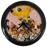 Dogs Are Fun  Wall Clock (Black)
