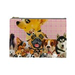 Dogs Are Fun  Cosmetic Bag (Large)