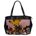 Dogs Are Fun  Oversize Office Handbag (One Side)