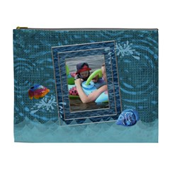 Beach Fun Xl Cosmetic Bag By Lil    Cosmetic Bag (xl)   Y5m9z6u6szuq   Www Artscow Com Front