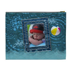 Beach Fun Xl Cosmetic Bag By Lil    Cosmetic Bag (xl)   Y5m9z6u6szuq   Www Artscow Com Back