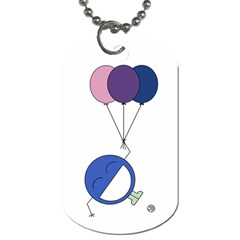 Balloon Dog Tag  By Giggles Corp   Dog Tag (two Sides)   Axz9pj5kid3u   Www Artscow Com Front