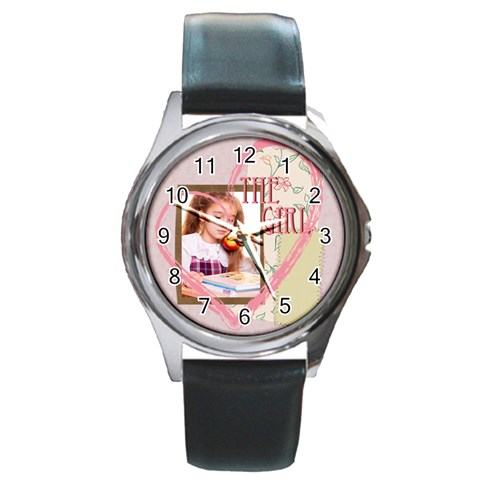 The Girl By Joely   Round Metal Watch   935t1omt01ue   Www Artscow Com Front