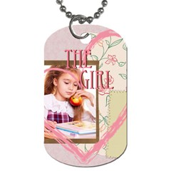 The Girl By Joely   Dog Tag (two Sides)   Jdc2zlwbzy58   Www Artscow Com Front
