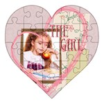 the girl - Acrylic Heart Jigsaw Puzzle  (8  x 8 )