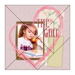the girl - Acrylic Tangram Jigsaw Puzzle (8  x 8 )