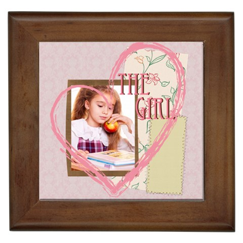 The Girl By Joely   Framed Tile   Yytmfmhe5bzx   Www Artscow Com Front