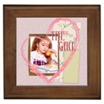 the girl - Framed Tile