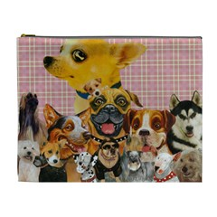 Dogs Are Fun  Cosmetic Bag (XL) by KewzooArt