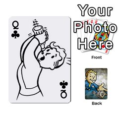 Queen Falloutdeckcustomd By Brianna   Playing Cards 54 Designs   9os9ldaxvlym   Www Artscow Com Front - ClubQ