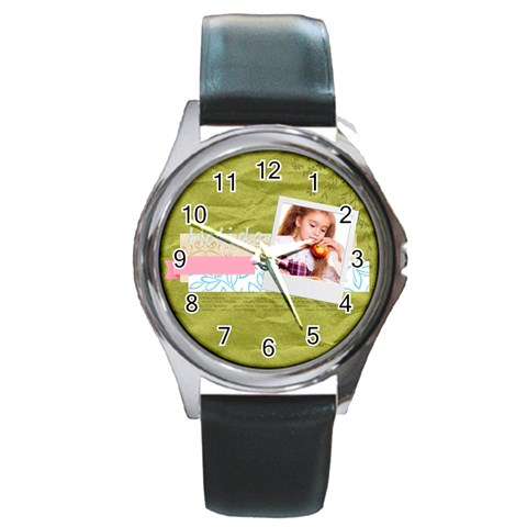 Holiday By Joely   Round Metal Watch   Jxqfi5a5syjl   Www Artscow Com Front