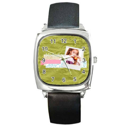 Holiday By Joely   Square Metal Watch   80nwvjfv7iou   Www Artscow Com Front